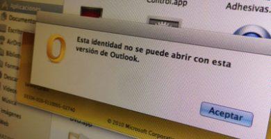 Error de identidad en Outlook para MAC