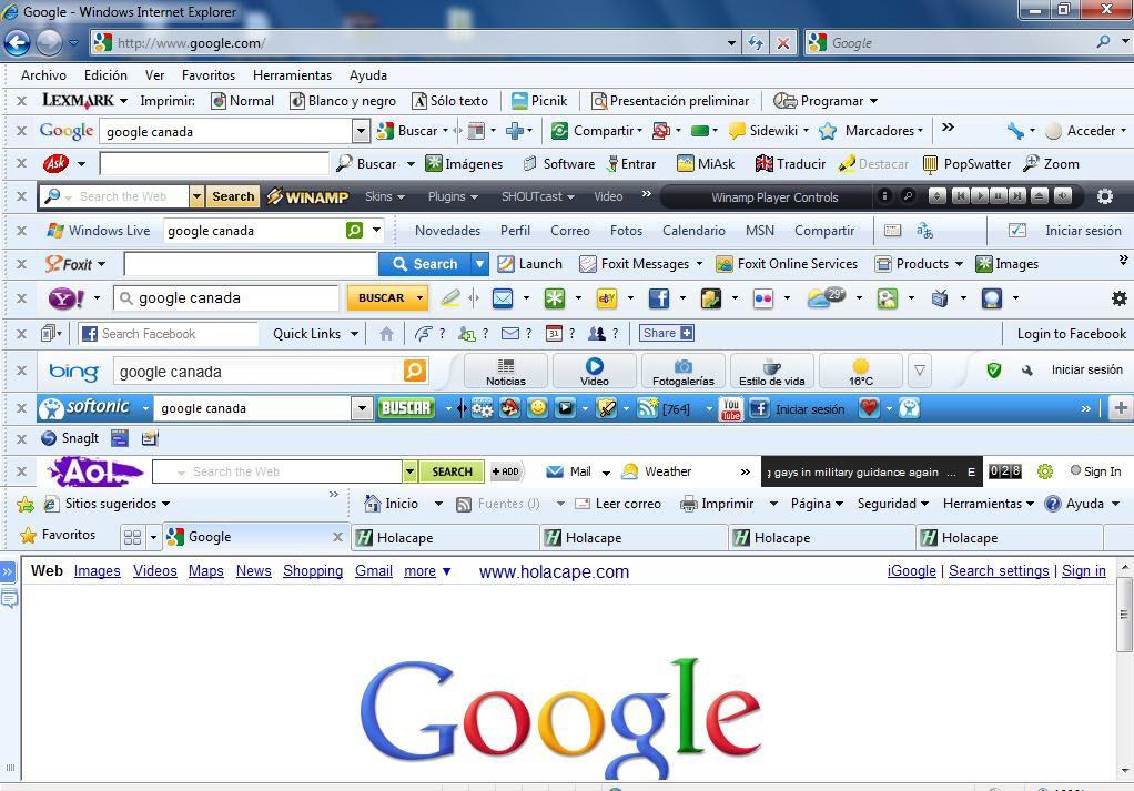Barras de navegador