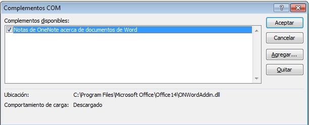 Desactivar complementos Microsoft Word