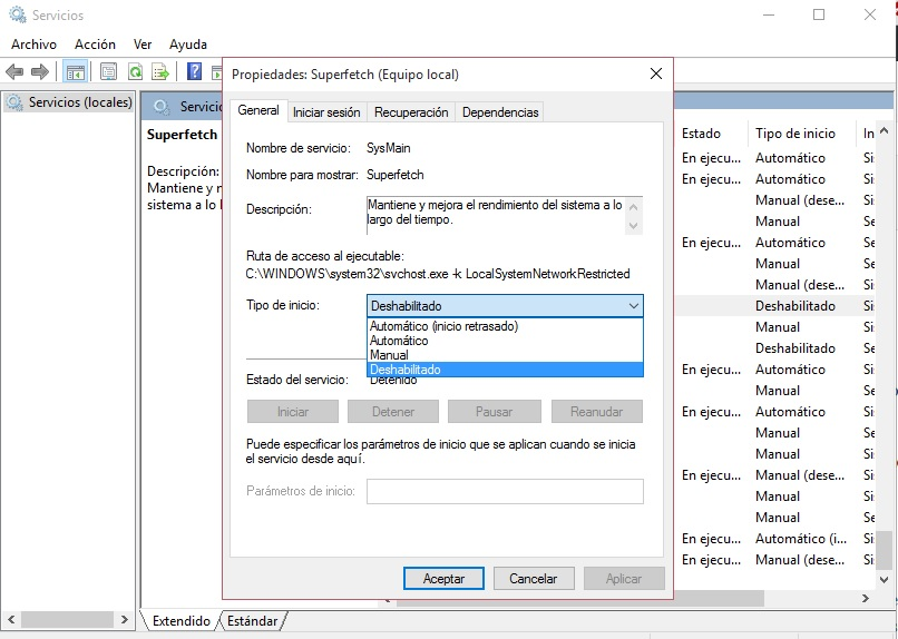 Uso de disco 100% Windows 8.1