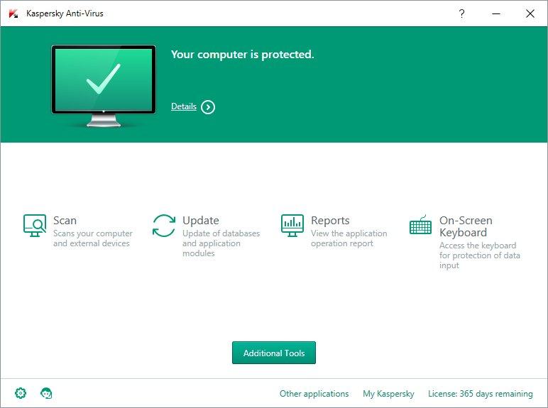 Kaspersky Antivirus 2016, Descargar Gratis